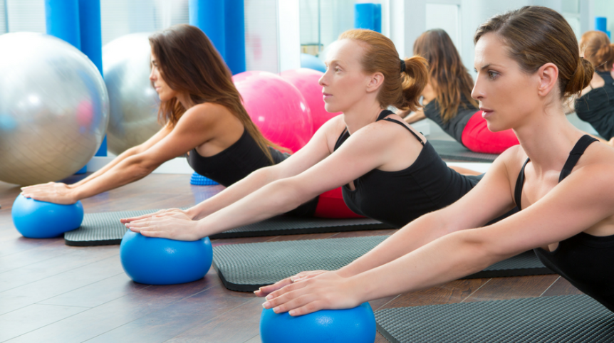 pilates exersoft ball - fitness mad