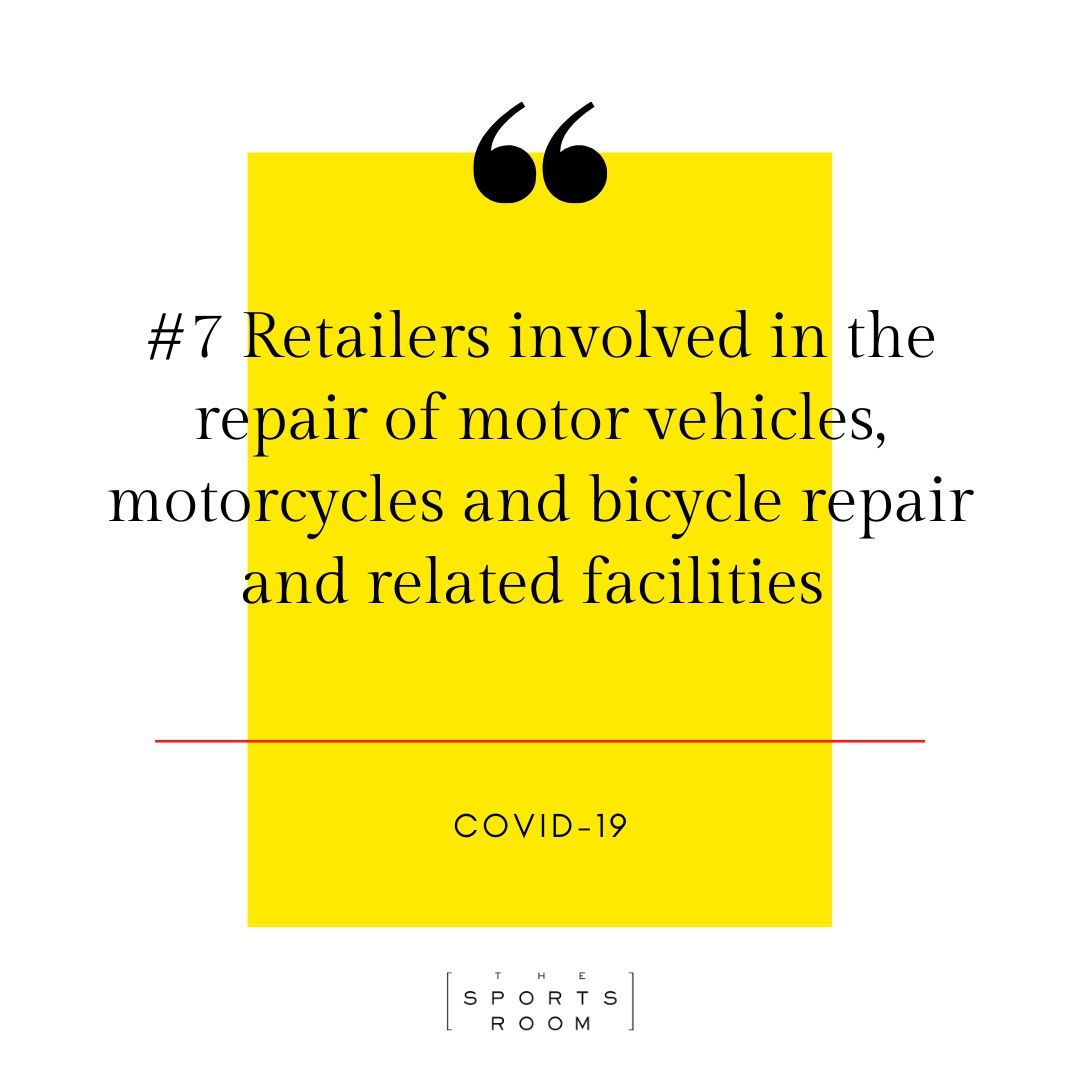 Covid-19 retailers essentail services bike repair