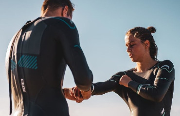 entry level wetsuit for men open water swimming